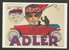 GERMANY MK CARS OLDTIMER ADLER MAXIMUMKARTE CARTE MAXIMUM CARD MC CM d9112