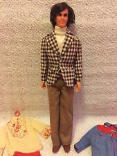 Vintage 1970s MOD HAIR KEN Doll #4224 with 5 Ken Brad Best Buy Fashions Outfits