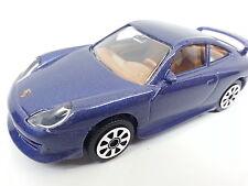 Bburago Modellauto Porsche 911 carrera metallicblau 1:43 StreetFire