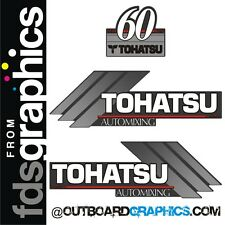 Tohatsu 60hp automixing outboard engine decals/sticker kit