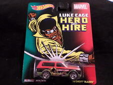 2014 HOT WHEELS MARVEL LUKE CAGE HERO FOR HIRE '70 CHEVY BLAZER  HW HOTWHEELS