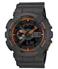 Casio G Shock * GA110TS-1A4 Gshock Watch Dark Grey Neon Orange XL COD PayPal