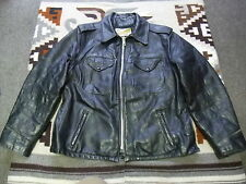 VTG Schott Perfecto Highway Patrol Police Motorcycle Leather Jacket 44 L (A39