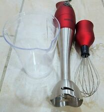Better Chef - DualPro 2-Speed Immersion Blender/Hand Mixer - Red/Silver