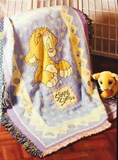 "New & Rare! Walt Disney Lion King ""Sleepy Simba"" Kids Woven Throw Baby Blanket"