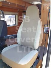 TO FIT A VW TRANSPORTER MOTORHOME, 2005, SEAT COVERS, TAFFINO BEIGE, 2 FRONTS