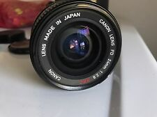 Canon FD 24mm 1:2.8 S.S.C Lens With Accessories