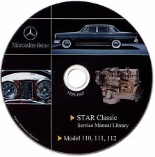 Mercedes Benz Oldtimer Fintail W111 W110 W112 Service Manual Repair Workshop DVD