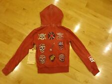 NWT Butter Super Soft Pink Hoodie Sweatshirt  Embellished Rock n Roll Size Small