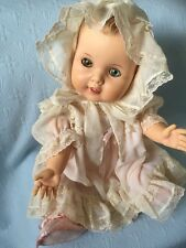 Vintage - AMERI CHA  DOLL- Antique Clothes-& Shoes 1950-- Clean -Green/blue Eyes