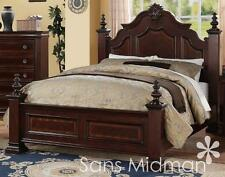 NEW! Chanelle Queen Size Bed Set, 2 pc Traditional Cherry Wood Bedroom Furniture