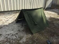 USGI Complete Lean To OD Green Pup Tent Shelter Halves W/ Poles & Stakes