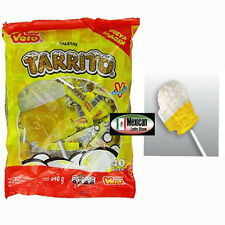 Vero Tarrito Lollipops 40-pcs Fruit Flavored Acidulated Hard Candy Mexican Candy