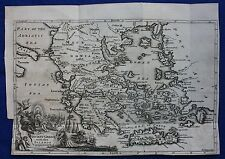 Original antique map ANCIENT GREECE, CRETE, E. Bowen 'Universal History' 1747