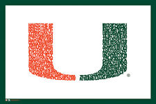 Miami Hurricanes Football HAIL TO THE SPIRIT Fight Song NCAA Logo POSTER