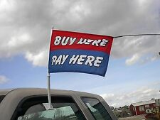 $ Wholesale CAR DEALER LOT 16 WINDOW CLIP ON FLAGS- Buy Here Pay Here