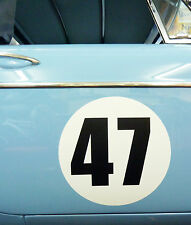 CLASSIC VINTAGE CAR RACE RALLY NUMBERS 30cm PAIR MG MGA MGB TRIUMPH ASTON RILEY