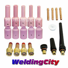"WeldingCity Cup-Collet-Gas Lens 0.040""~1/8"" Kit in TIG Torch 17/18/26 T6B"