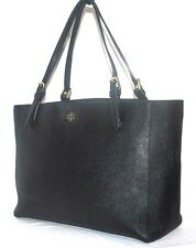 Tory Burch 'York' Buckle Black Tote, Pre-owned B(See Condition) $295