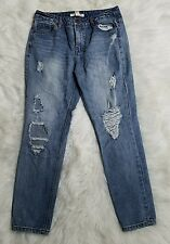 FOREVER 21 Life in Progress Women's Distressed Destroyed Blue Skinny Jeans Sz 26