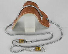 Chrome Flexible Metal Leather Snake Chain Neck Camera Strap Screw Tight Clasps
