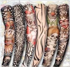 2Pcs Fake Nylon Temporary Tattoo Sleeves Arm Stockings Tatoo For Cool Fashion