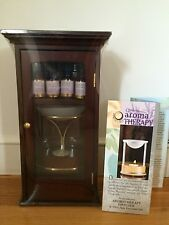 Aroma Therapy Diffuser w/4 100% Pure Essential Oils, 5 Tea Lights,Wooden Cabinet