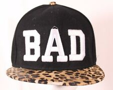 BAD Animal Print Bill Ball Cap  Adjustable Cotton Black White Animal Print