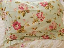 Laura Ashley Pink Roses Pillow SHAM-LIFESTYLES-SHABBY COTTAGE Chic-Standard-NEW