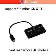 Camera Connection Kit 3in1 HUB Micro USB Cable Adapter SD/MMC/TF OTG Android