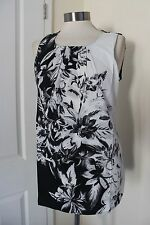 size 14 stunning black and white chiffon top from wallis brand new