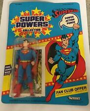 Kenner 1984 Super Powers - Superman Action Figure New  - UNPUNCHED - MOC
