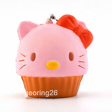 New 10CM Jumbo Squishy Bow Cake Cat Cupcake Cellphone Straps Kids Bread Fun Toy