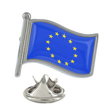 EU Wavy Flag Pin Badge European Union united e.u. brexit europa New & Exclusive