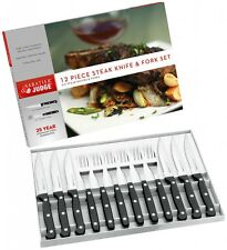 Judge Sabatier Steak Knife Fork Set Black 12 Piece Kitchen Cooking Meat