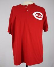 XL Cincinnati Reds #33 T-Shirt 50/50 Cotton Poly Blend Button Russell Athletic