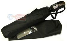 Drizzles Mens Compact Auto Umbrella Black