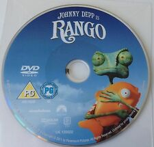 DVD: Johnny Depp is RANGO - Rated PG - disc only - replacement