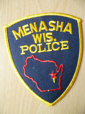 Patches: MENASHA WIS POLICE PATCH(NEW, apx. 4.8x3.12)