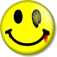 """SMILEY 1"""" 25mm Pin Button Badge Acid House Face Geek Yellow Retro Bashed Mashed"""