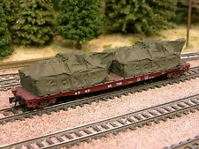 Hay Brothers TARP COVERED TANKS #1 LOAD (2/pack Olive Drab) - fits flatcars