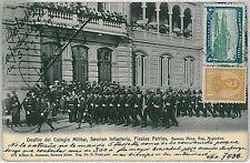 ARGENTINA Vintage Postcard - BUENOS AIRES: DESFILE colegio militar FIESTAS 1911