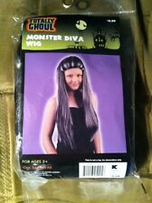 "Long Gray ""Monster Diva"" Flowing Wig- New- Halloween Fantasy Cosplay"