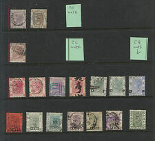 Hong  Kong  lot  or  early  Victoria  stamps   LOOK       MS0316