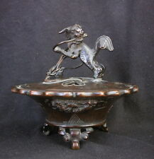Antique Chinese or Japanese Bronze Incense Burner