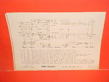 1960 CHRYSLER SARATOGA NEW YORKER 300F WINDSOR  FRAME DIMENSION CHART