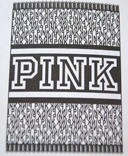 "Victoria's Secret LOVE PINK Stadium Blanket Throw Black White 60""X72"" Huge Logo"