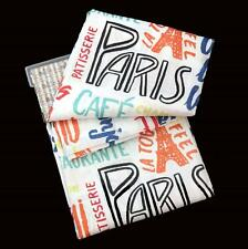 Signature Bath Paris Eiffel Tower Bright Script Shower Curtain 70X72 NIP DISC