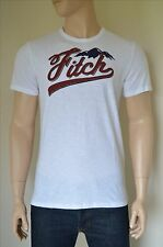 NEW Abercrombie & Fitch Logo Graphic Tee White Mountain T-Shirt L