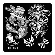 DIY Nail Art Stamping Plate Butterfly Mandarin Duck Magic Printing Template TU21